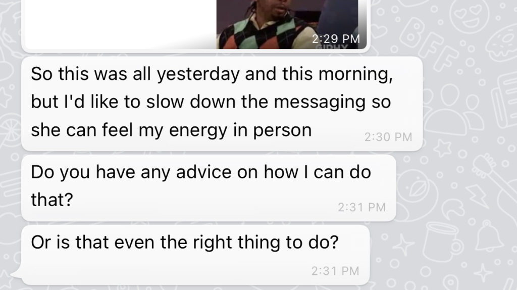 Personal Feedback from a dating coach 1