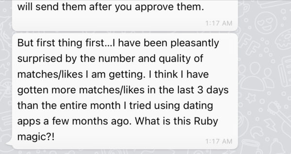 Personal Feedback from a dating coach 4